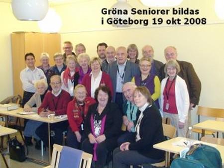 Gröna Seniorer bildas okt 2008 i Göteborg